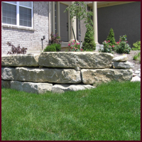 Native Limestone Wall